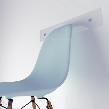 Battisedia in plexiglass trasparente e colorato su misura
