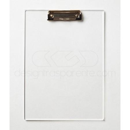 Cartelline rigide portablocco in plexiglass