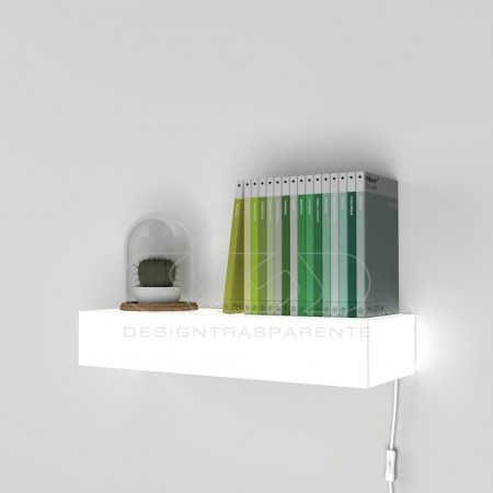 Mensole luminose in plexiglass con led