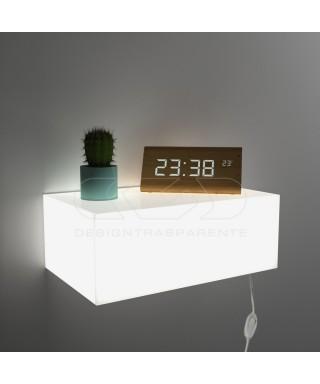 Perspex bedside light cube