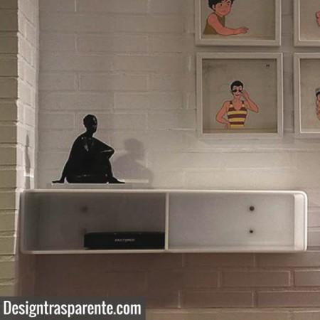 Acrylic wall console