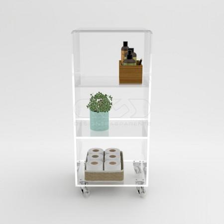 Mobiletti, carrelli servitori, mensole e accessori per il bagno, anche su misura