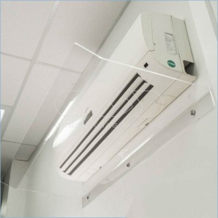 Deflectores por acondicionadores, desviadores de aire condicionado  de metacrilato blanco o transparente