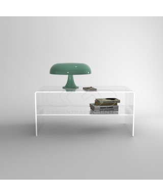 Lift top table with tray