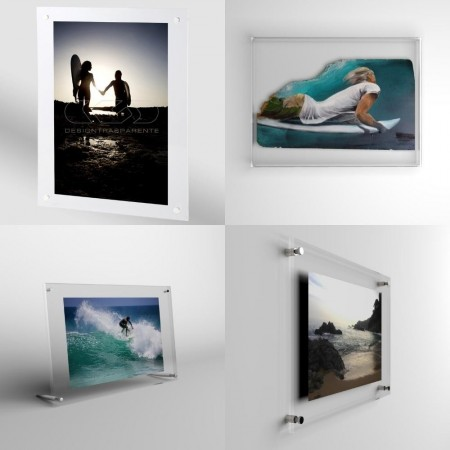Acrylic frames and protection for canvas