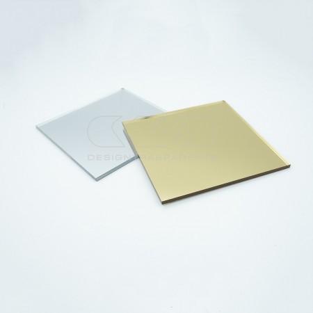 Lastre e pannelli in plexiglass specchio argento infrangibile