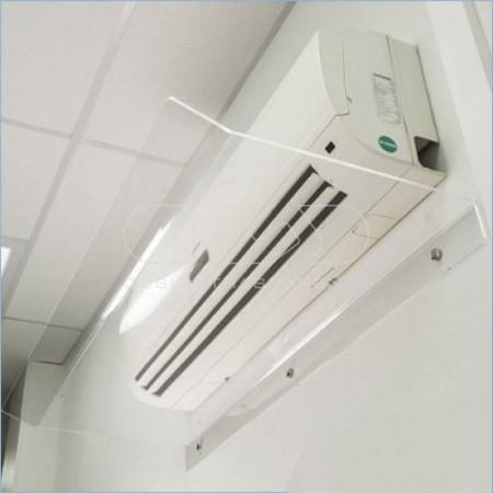 Deflectores y desviadores del aire acondicionado realizados en metacrilato transparente o blanco, a la medida