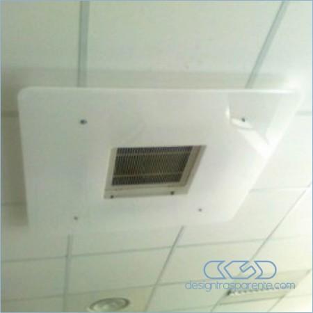 deflettore da soffitto in plexiglass