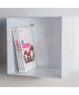 Cubo de metacrilato coloreado