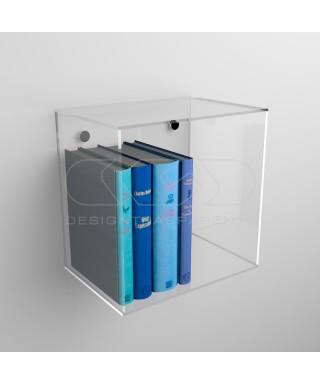 Cubo de pared de metacrilato transparente