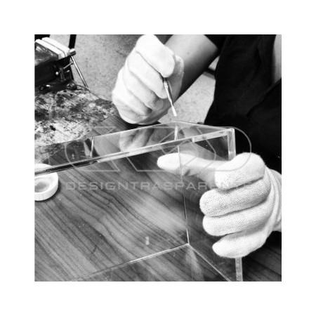 teca in plexiglass trasparente da incollare, pannelli tagliati su misura
