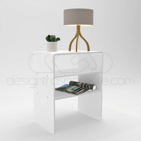 Tavoli da salotto in plexiglass bianco