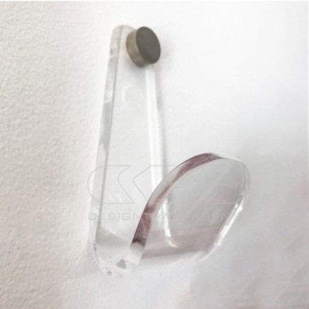 Modern Coat rack e wall hooks made in transparent or colored acrylic