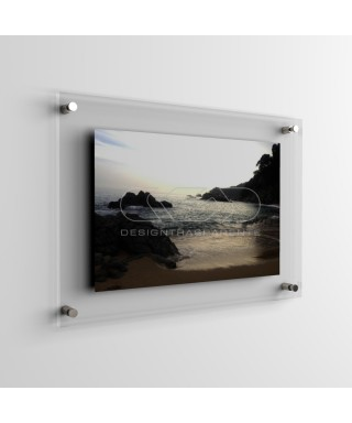 Acrylic frame with spacers