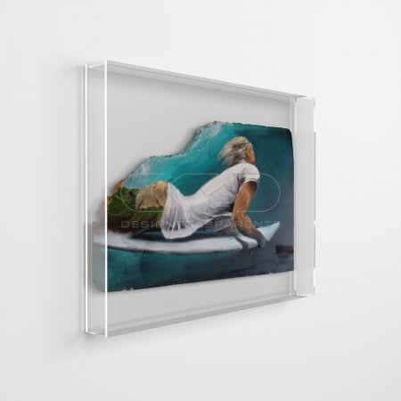 Acrylic box frames, protective cover for canvases, paintings and relief works