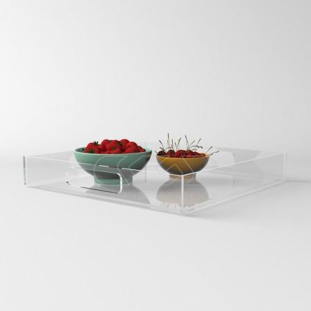 Vassoio in plexiglass moderno e trasparente
