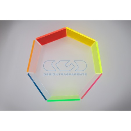 Planchas y paneles de metacrilato y plexiglass de color fluorescente